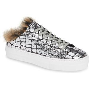 P448 Clara Faux Fur Slip-On Sneaker